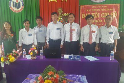 Trường Tiểu học Trần Hưng Đạo đại hội chị bộ nhiệm kỳ 2017 – 2020